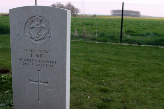 Private John Parr was the first to die in WWI, aged just seventeen. Photo © Sophie Collard