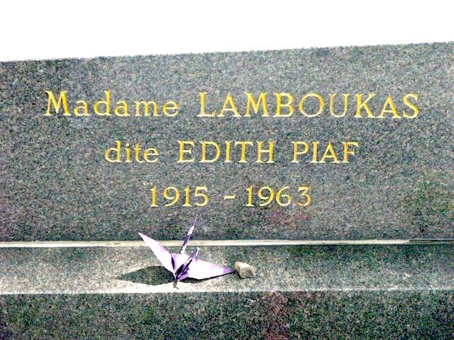 Edith Piaf's Grave, Pere Lachaise Cemetery, Paris. © Sophie Collard