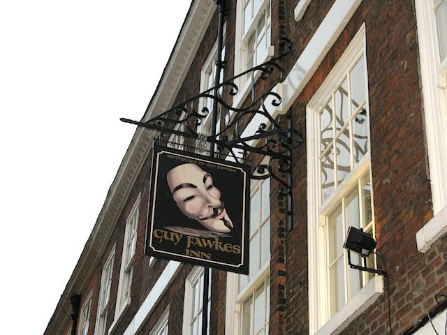 Guy Fawkes Inn Sign, York