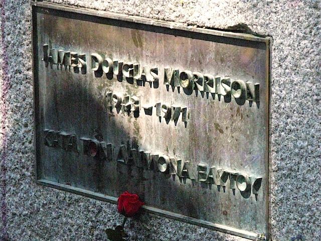Jim Morrison's Grave Pere Lachaise Cemetery, Paris. © Sophie Collard