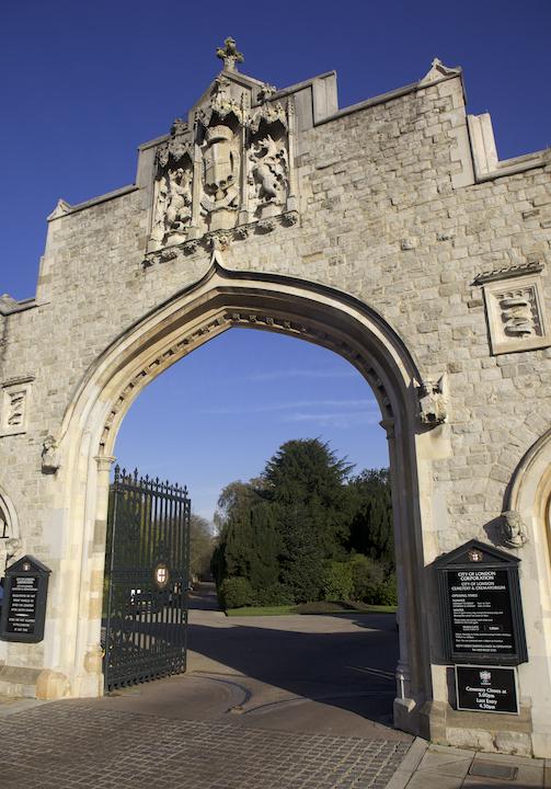 City of London Cemetery & Crematorium gate © Simon Montgomery